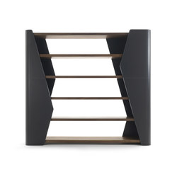 Finesse Bookshelf - Authentic Living Collection - RIVA 1920 | LAMBORGHINI | Office shelving systems | Riva 1920