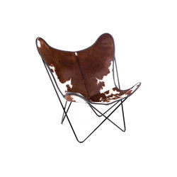 Hardoy Butterfly Chair Kuhfell Braun-Weiß | Lounge chairs | Manufakturplus