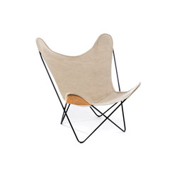 Hardoy Butterfly Chair Leinen Grau | Fauteuils d'attente | Manufakturplus