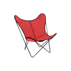 Hardoy Butterfly Chair Loden Mehler-Rot | Lounge chairs | Manufakturplus