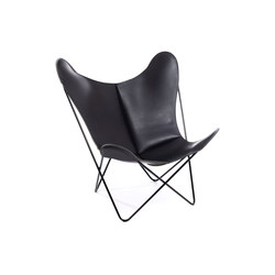 Hardoy Butterfly Chair Nature Schwarz | Fauteuils d'attente | Manufakturplus