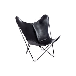 Hardoy Butterfly Chair Sattel-Leder Schwarz | Lounge chairs | Manufakturplus
