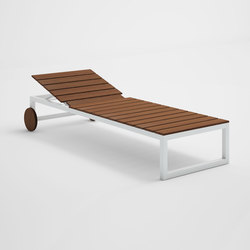 Saler Soft Teak High Chaiselongue | Sun loungers | GANDIABLASCO