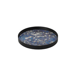 Coupled Tray Round - Blue Large | Plateaux | ferm LIVING