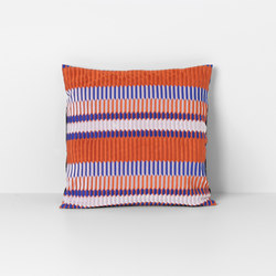 Salon Pleat Rust Cushion | Coussins | ferm LIVING