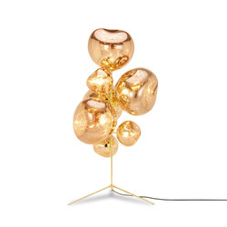 Melt Gold Stand Chandelier | Free-standing lights | Tom Dixon