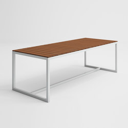 Saler Soft Teak High Table | Dining tables | GANDIABLASCO