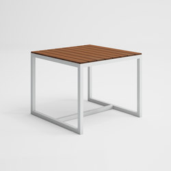 Saler Soft Teck Table haute | Tables à manger de jardin | GANDIABLASCO