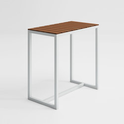 Saler Soft Teck Table Bar | Tables hautes de jardin | GANDIABLASCO