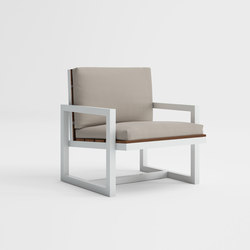 Saler Soft Teak Low Armchair | Garden armchairs | GANDIABLASCO