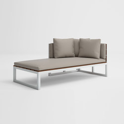 Saler Teak Sectional Sofa 2 | Sun loungers | GANDIABLASCO