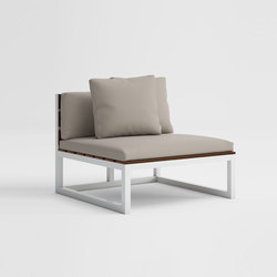 Saler Soft Teakholz Modul Sofa 3 | Sessel | GANDIABLASCO
