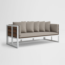 Saler Soft Teakholz Sofa | Gartensofas | GANDIABLASCO