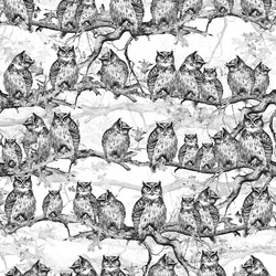 Owls Resort | Wall coverings / wallpapers | LONDONART