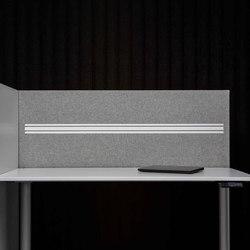 AGORAdesk | Akustische Einhausung mit Funktionsleiste | Table dividers | AGORAphil