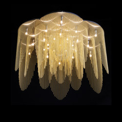 Rose - 700 - ceiling mounted - straight | Lámparas de araña | Willowlamp