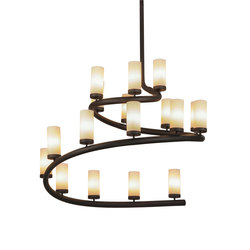 French Horn 17 LT Chandelier | Illuminazione generale | 2nd Ave Lighting