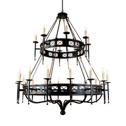 Gina 24 LT Two Tier Chandelier | Allgemeinbeleuchtung | 2nd Ave Lighting