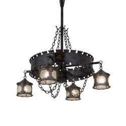 Antique Gothic Reproduction 4 Lantern Chandelier | Iluminación general | 2nd Ave Lighting