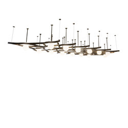 Grand Illumina Bola Oblong Chandelier | Suspended lights | 2nd Ave Lighting