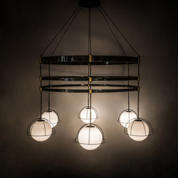 Heliocentricity 6 LT Chandelier | Iluminación general | 2nd Ave Lighting