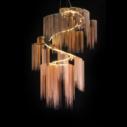 Custom Faraway Tree - spiralling | Suspended lights | Willowlamp