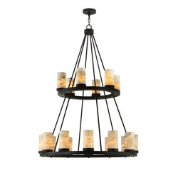 Loxley Jadestone 18 LT Two Tier Chandelier | General lighting | 2nd Ave Lighting