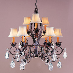 New Country French Chandelier | Iluminación general | 2nd Ave Lighting
