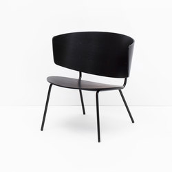 Herman Lounge Chair - Black | Loungesessel | ferm LIVING
