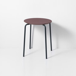 Herman Stool - Bordeaux/Dark Blue | Taburetes | ferm LIVING