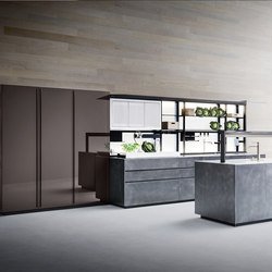 Artematica | Structured lacquer Steel | Fitted kitchens | Valcucine