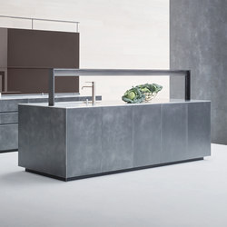 Artematica | Structured lacquer Steel | Island kitchens | Valcucine
