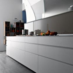 Artematica Uniline I Bianco Ghiaccio | Einbauküchen | Valcucine