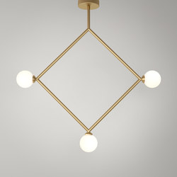 Rhombus Pendant Globes 03 | General lighting | Atelier Areti