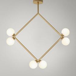 Rhombus Pendant Globes 06 | Allgemeinbeleuchtung | Atelier Areti