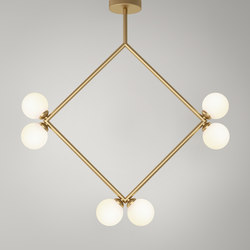 Rhombus Pendant Globes 06 | Lámparas de suspensión | Atelier Areti
