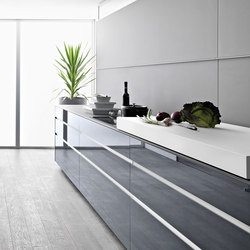 Artematica Vitrum | Blu | Fitted kitchens | Valcucine