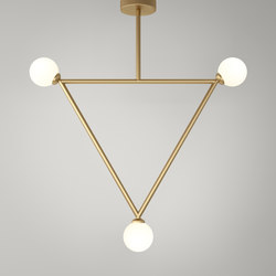 Triangle pendant globes 03 | Suspended lights | Atelier Areti