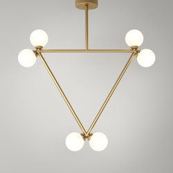 Triangle pendant globes 06 | General lighting | Atelier Areti