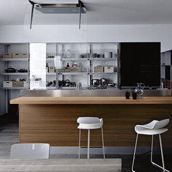 Artematica Vitrum | Nero Lavagna | Fitted kitchens | Valcucine