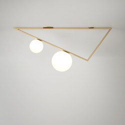 Triangle 1m 2 Globes | Wall lights | Atelier Areti