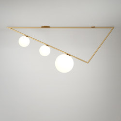 Triangle 1.5m 3 Globes | Wall lights | Atelier Areti