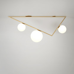Triangle 1m 2+1 Globes | General lighting | Atelier Areti