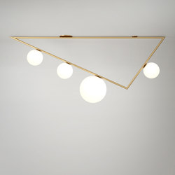 Triangle 1.5m 3+1 Globes | Wall lights | Atelier Areti