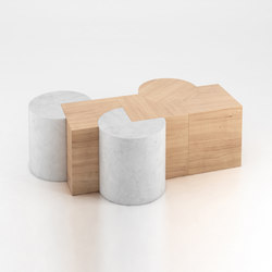 Circle And Square | Tables basses | Atelier Areti