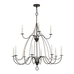 Polonaise 12 LT Two Tier Chandelier | Iluminación general | 2nd Ave Lighting