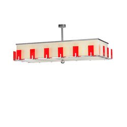 Quadrato Escalade Fabric Oblong Pendant | Éclairage général | 2nd Ave Lighting