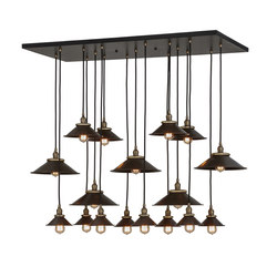 Revival Chic 17 LT Cascading Pendant | Iluminación general | 2nd Ave Lighting