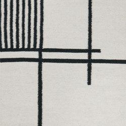 Kelim Rug Small - Black Lines | Formatteppiche | ferm LIVING