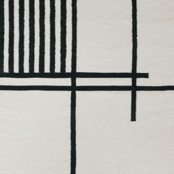 Kelim Rug Large - Black Lines | Rugs | ferm LIVING